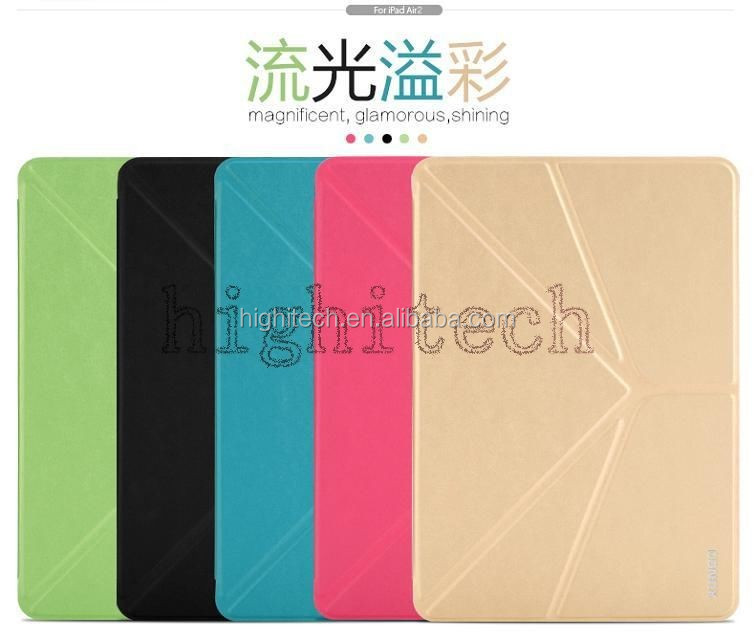 XUNDD Leather Unique Folded Smart Cover Case Stand for Apple iPad Air 2
