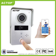 World first WiFi IP video door phone supports two way intercom and remotely unlock door, wireless IP video door phone, wifi, DIY