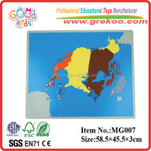 Montessori North America Educational Wooden Puzzle Map