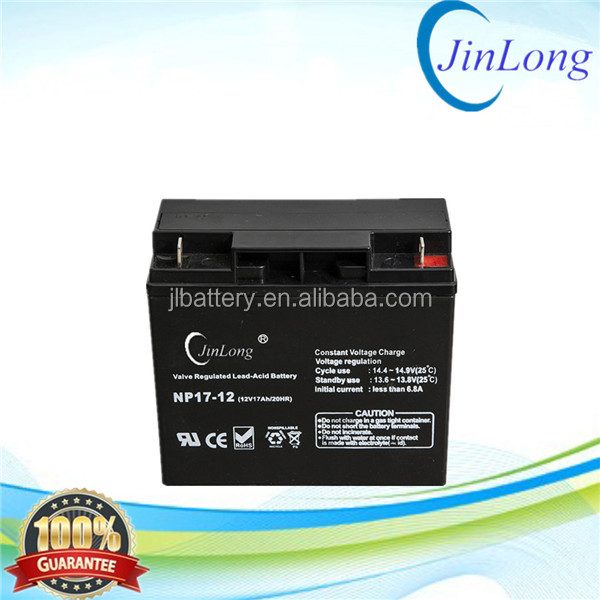 12v 17ah rechargeable ups agm storage battery with long service life