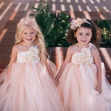 Baby Girls Flower Dress Wedding Party Princess Tutu Dress