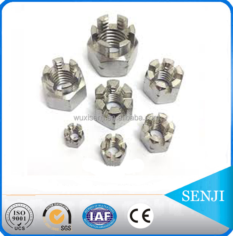 high quality Stainless steel castle nuts din935