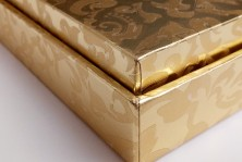 pendant packaging gold paper jewelry box made in Dongguan
