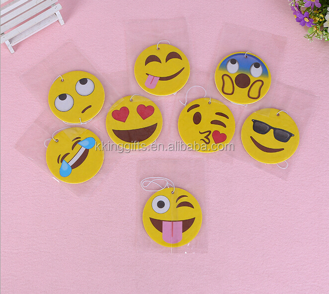 China factory wholesale funny emoji paper air freshener home perfumes