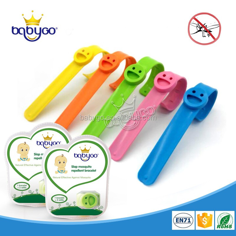 New fashion slap silicone mosquito repellent bracelet for baby