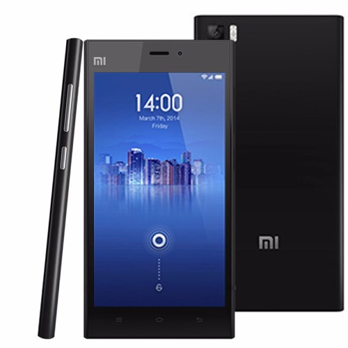Brand Phone Xiaomi Mi3 64GB Black, 5.0 inch 3G Android MIUI V5 Smart Phone