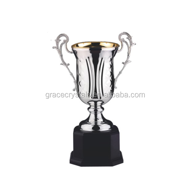 High-end big metal silver cup trophy