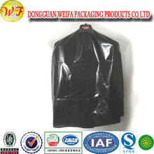 Plastic Disposable Hotel Dry Cleaning Bags Clear Garment Bags With Hook Handle
