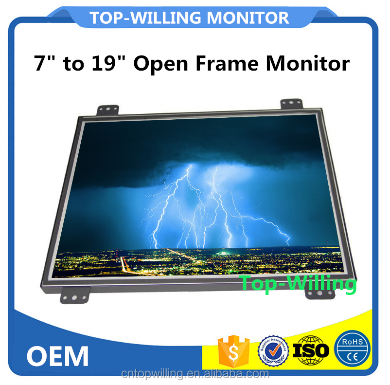 7 8 10 12 15 17 19 inch Capacitive Touch Screen Open Frame Monitor