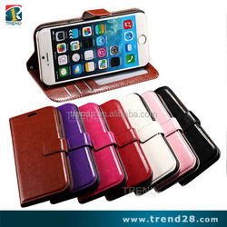 china wallet flip pu leather case for apple iphone 6