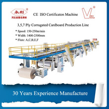 Factory price high speed corrugated cardboard making machine for gluing sitting