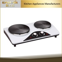 Kitchen applience industrial electric stove hot plate 2 burner electric cooktop cooking electric heater solar powered hot plate