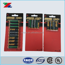Custom Printed Blister Paper Card with hang up for Alkaline Battery Packaging