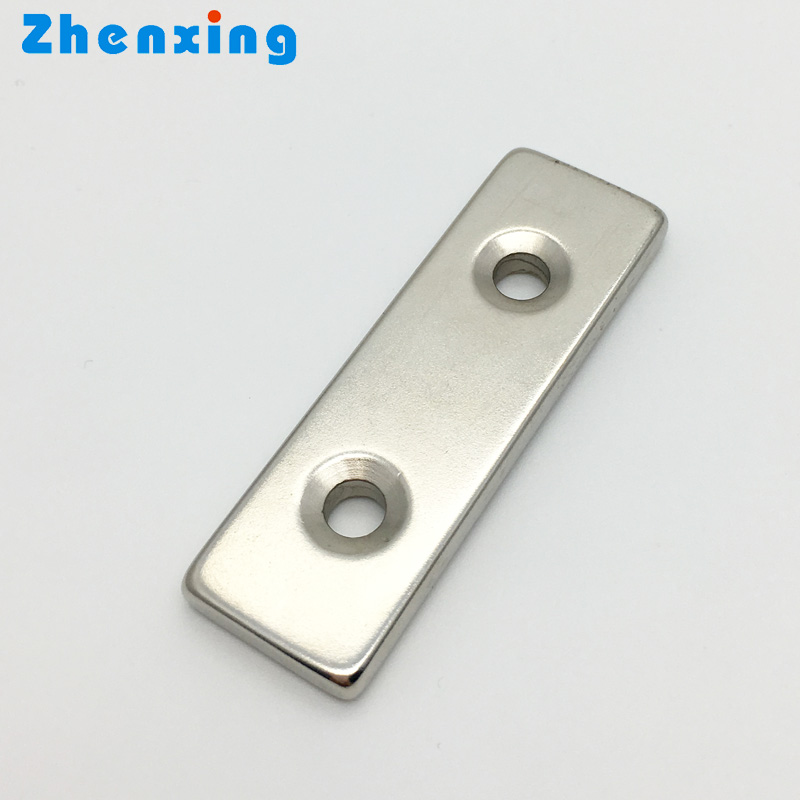 Super Strong Countersunk Hole N52 Neodymium Block Magnets