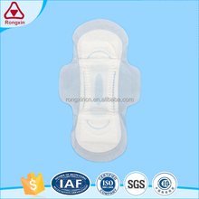 Leakage Free Samples Fan Shaped Wing Sanitary Napkin For Female Use