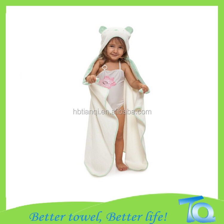 Alibaba China Supplier Terry Cloth Baby Hooded Towel Wholesale