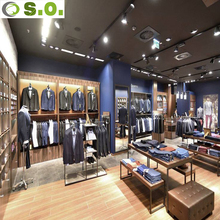 Modern clothes shop furniture display for retail garment shop interior design