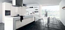 High gloss lacquer enamel kitchen cabinet