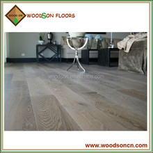 Handscraped Wide Plank Engineered Grey Oak Wood Flooring