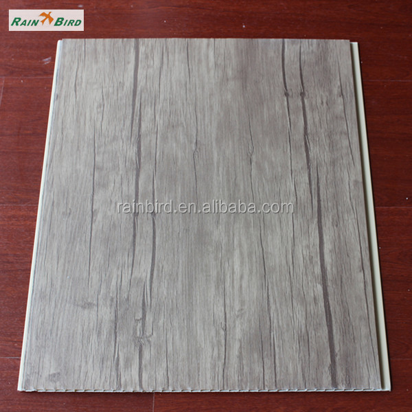 RB-PVC-L4004 Laminated Wooden design 40cm width pvc panel for wall