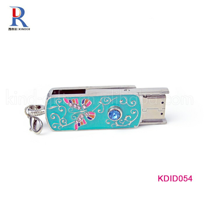 Crystal customized jewelry USB flash drive