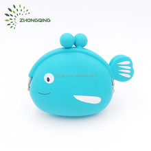 Customized wholesale fashion cartoon animal silicone coin purse for gift