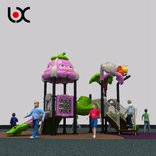 Attractive plastic outdoor kids game castle play center equipment