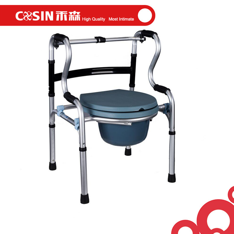 Disabled adult patient walker mobility walking frame with commode