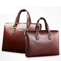 2015 New Fashion Men Custom Gift leather executive leather briefcase handle