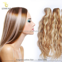 OEM package remy cheap double weft wholesale remy clip hair extensions double weft