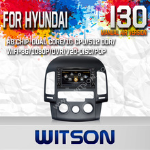 WITSON HYUNDAI I30 2007-2011 MANUAL AIR-CONDITIONER AUTO CAR DVD GPS WITH RAM 8GB FLASH RDS STEERING WHEEL SUPPORT