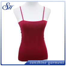 Seamless polyester spandex sexy wholesale camisoles for womens