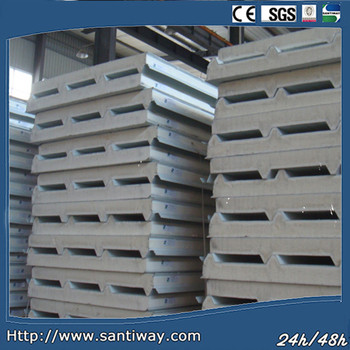 Steel Sheet PU Sandwich Panels for Wall and Roof SANTIWAY-009D
