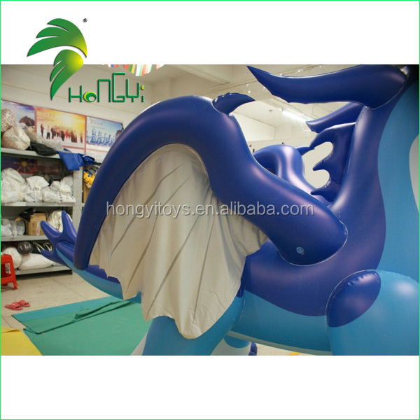 Innovation Fashion Design Amazing Inflatable Blue Dragon Toy for Sale