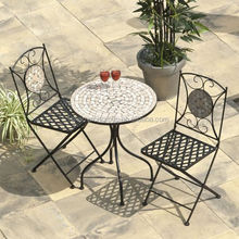 New Selima Mosaic Cast Iron Bistro Set AR-6135 set