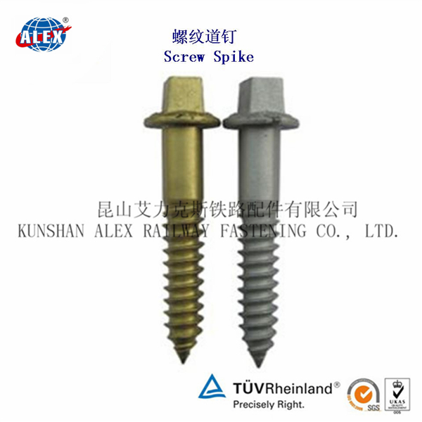 High Strength Railroad V26 Timber Screw, Customized sleeper Screw Spike, Railroad Timber Screw Spike Manufacturer China ALEX