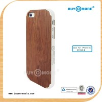 new china products for sale electroplating wood sticker design pc hard cover case for iphone 5 5s
