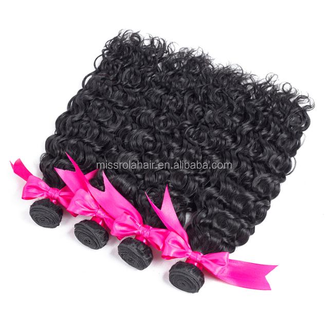 china supplier virgin peruvian human hair bundles water wave 7a curly human braiding hair