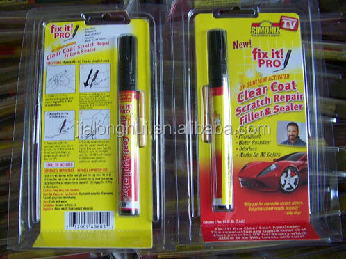 Cheap!car scratch repair pen for car, fix it pro As Seen On TV ,car scratch remover pen