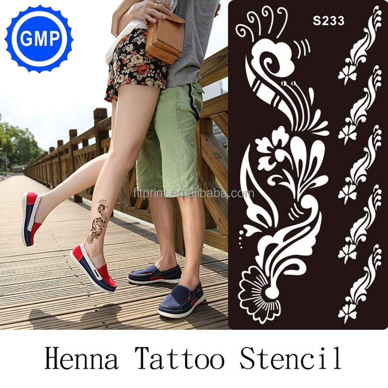 Cosmetic wedding custom tattoo stencil