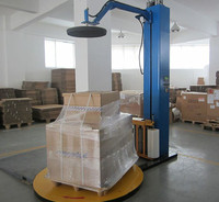 Semi automatic stretch film palletizing wrapping packing machine