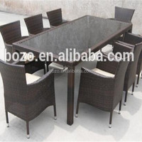 Wicker Garden Dining Tables Sets Furniture