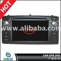 7 inch car dvd player speical for BYD F3 with high resolution digital touch screen ,gps ,bluetooth,TV,radio,ipod,CAR MP3/CAR MP5