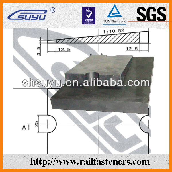HDPE material bed rail pads for underlaying the crane rail