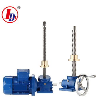 Production and selling the electric motor or hand wheel worm gear screw jack