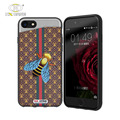 Customize 3d relievo printed pc tpu pu telephone thin leather cover for iphone 8 7 hard case celphone