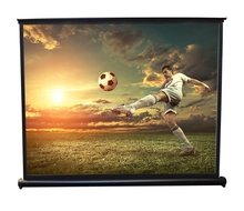 Portable easy pull up screen curtain for projector