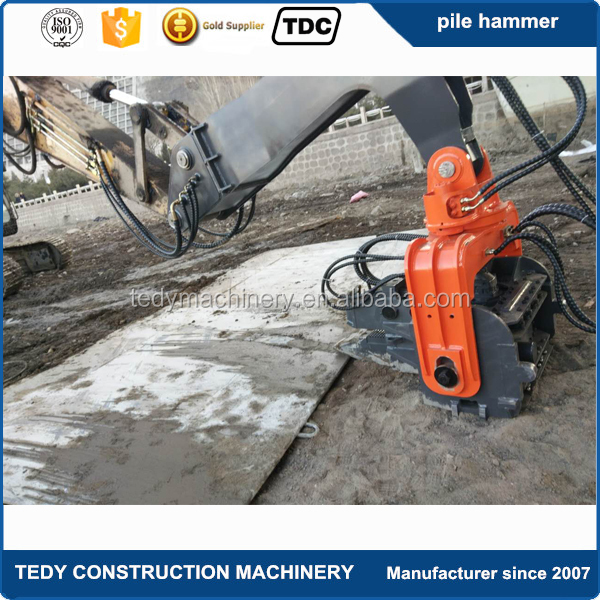 Hydraulic pile hammer, hydraulic pile drivers for excavators