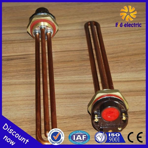 "Copper Water Immersion Heater with Thermostat 3KW 11"" Up"