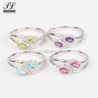 Multi style color rhinestone 1mm thin ring 5925 silver ring diamond,boho silver jewellery